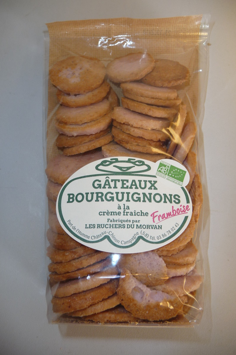 Gâteaux bourguignons AB framboise - Biscuits - Pain d'épices - Les Ruchers du Morvan - Voir en grand