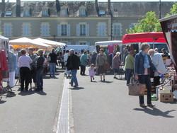 Sur le marché de Guerigny