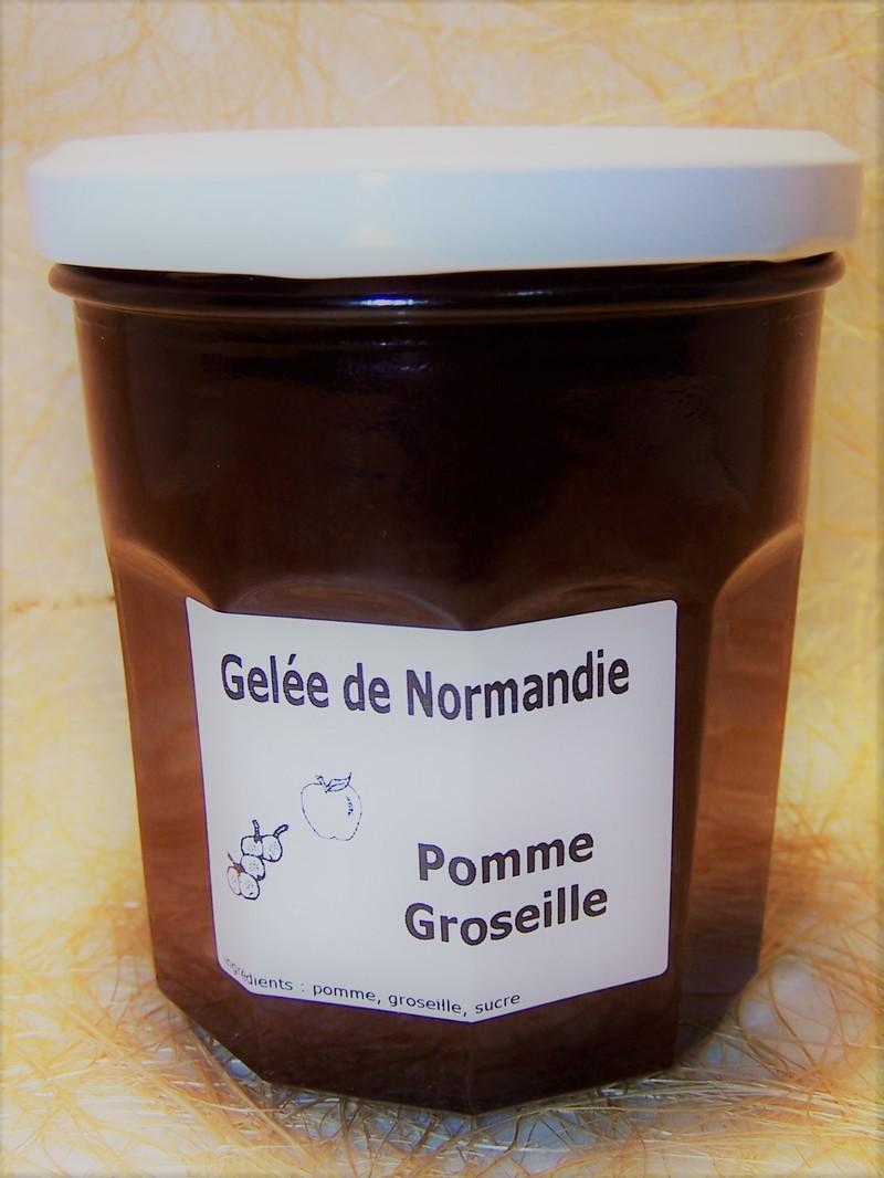 Gelée de Normandie pomme groseille - Confitures et Miel - La Cave d'Orgueil - Voir en grand