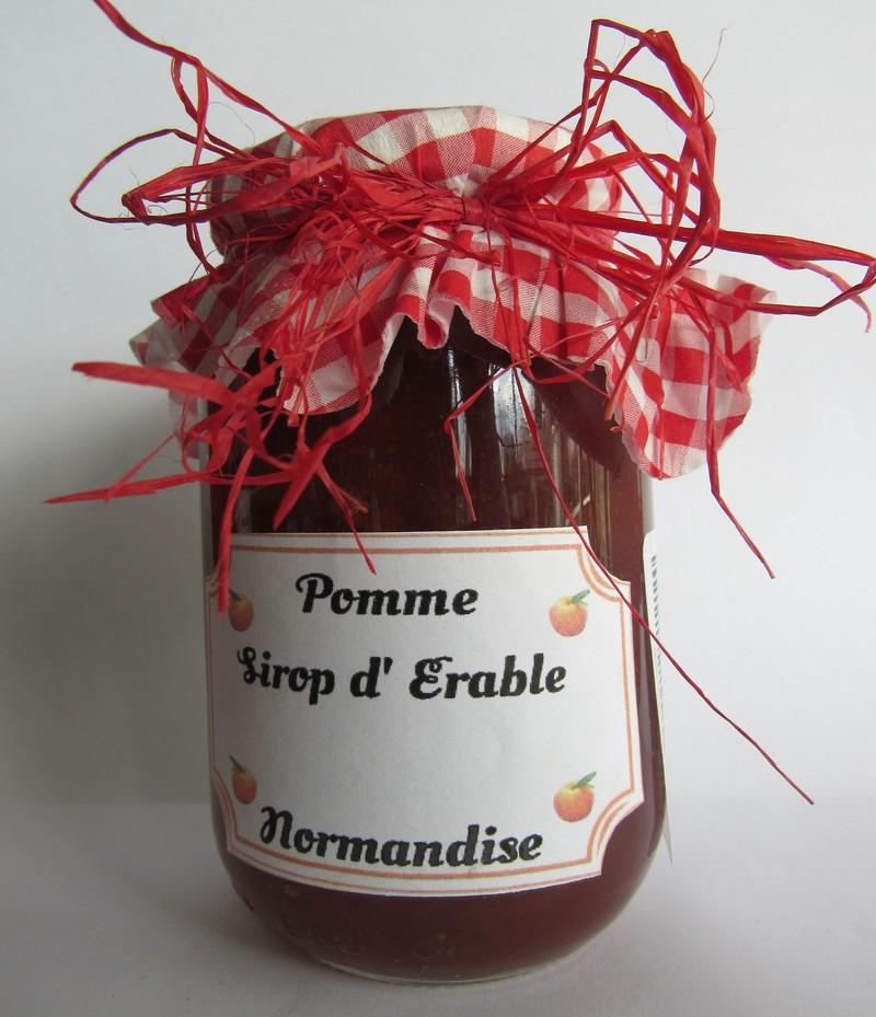 Pomme sirop d'érable - 450g - Produits du terroir - Confitures et gelées  - La Boutique des Museales de Tourouvre - Voir en grand