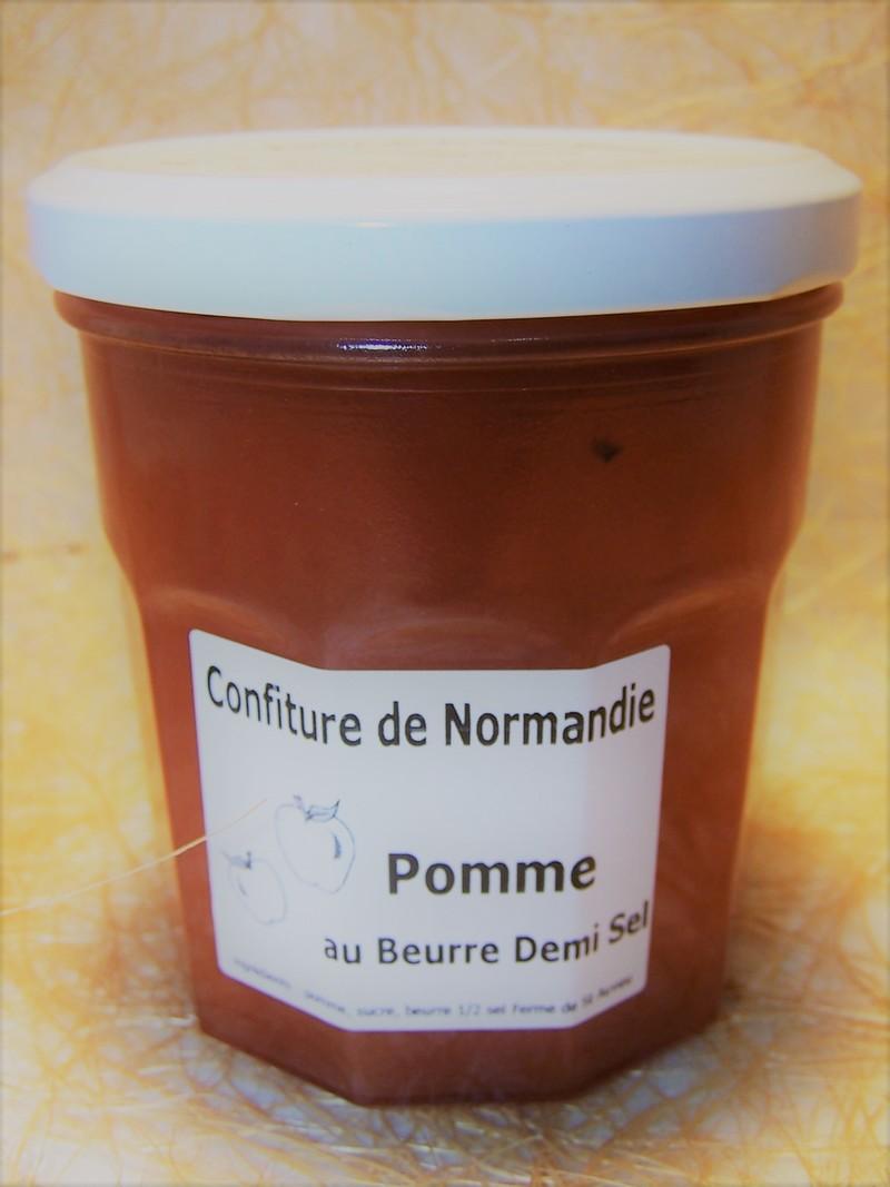 Confiture de Normandie pomme au beurre demi-sel - Confitures et Miel - La Cave d'Orgueil - Voir en grand