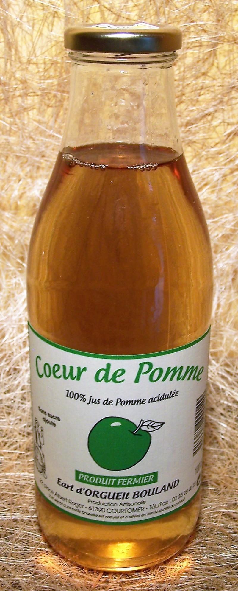 C½ur de Pomme Acidulé - Cid'Aigre, Jus de Fruits, Cidre et Poiré d'Orgueil - La Cave d'Orgueil - Voir en grand