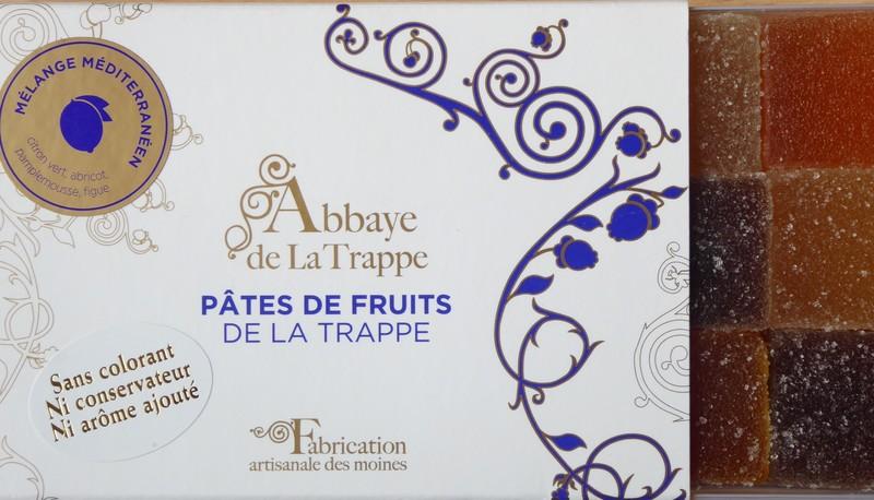 Pâtes de fruits boite 225 gr. Mélange méditerranéen - confiserie - SOLITRAP Magasin de l'Abbaye de La Trappe - Voir en grand