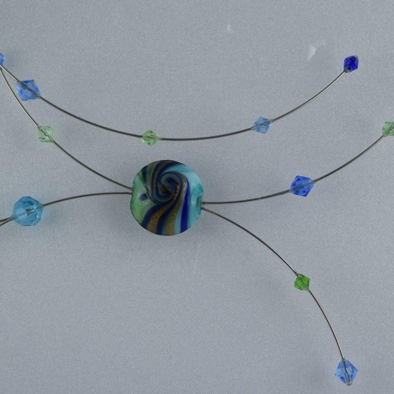 collier Bonbon Bleu  2vert.jpg - Voir en grand