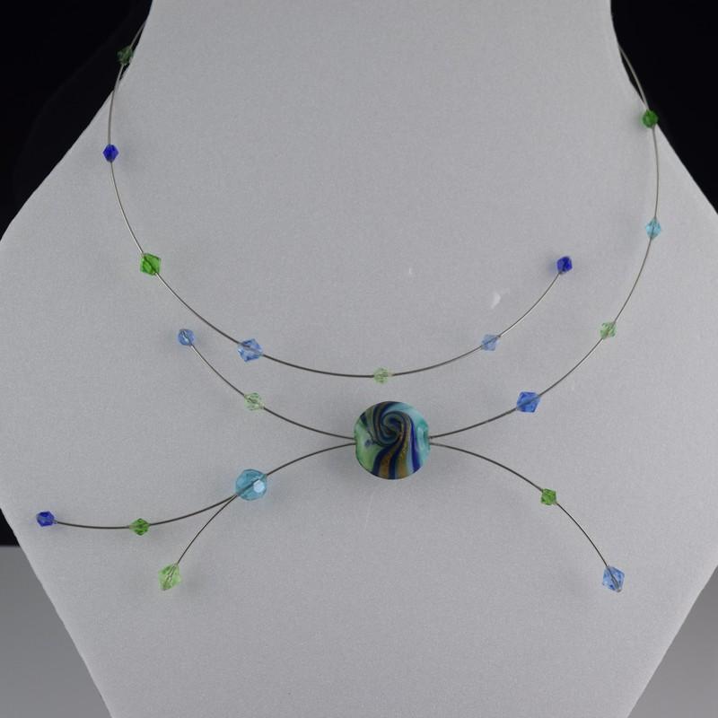 Collier à mémoire de Forme, Création Exclusive Bonbon - RAYON Créa Exclus - Bijoux BLUE  MOON - Voir en grand