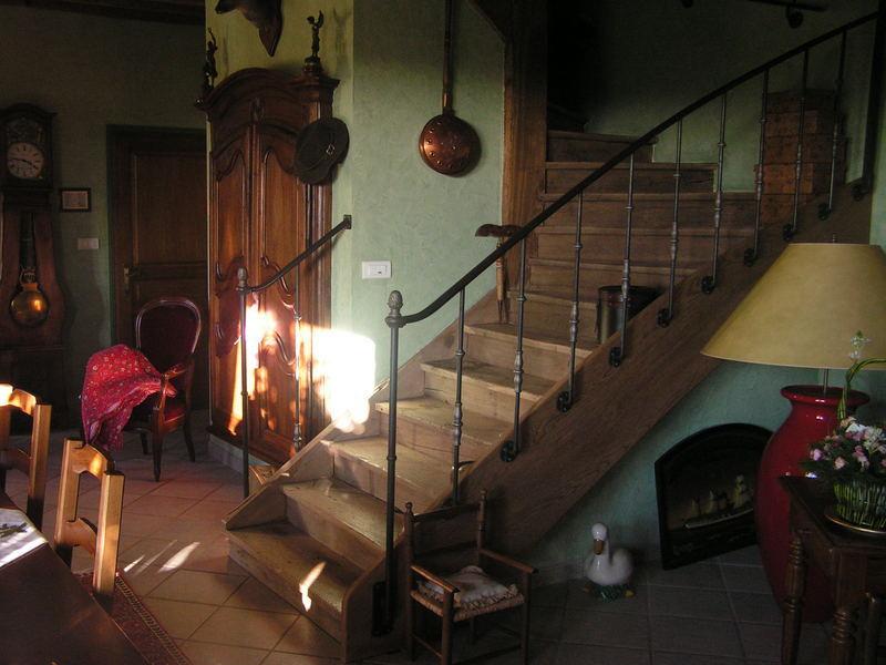 Rampe interieure fer forge charollais brionnais for Achat escalier bois