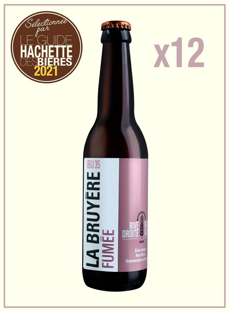 La Bruyère fumée 12 x 33 cl - Bières fumée - MICROBRASSERIE RIVE DROITE RIVE GAUCHE - Voir en grand