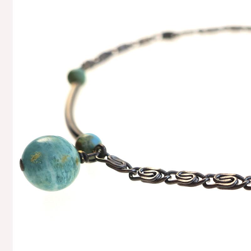 Bracelet Chloé turquoise et amazonite 2 - Voir en grand