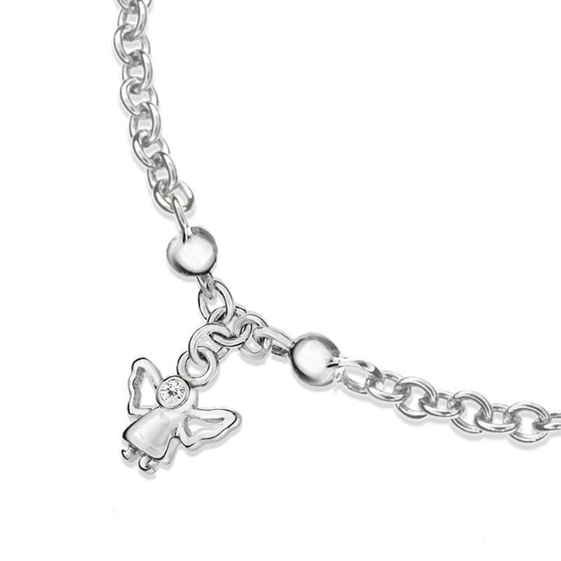 Bracelet enfant Ange diamant et argent 2 - Voir en grand