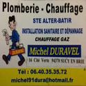 Michel DURAVEL Plombier Chauffagiste