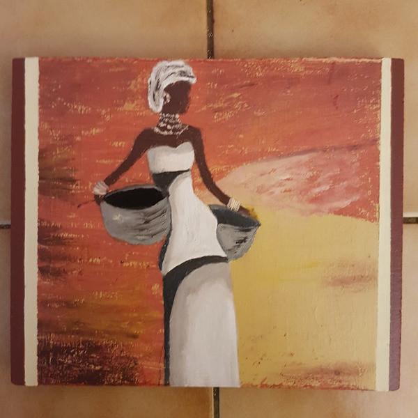 """Une plaque décorative """"la dame africaine"""" - Decorations murales - L'ATELIER DE BETH - Voir en grand"""