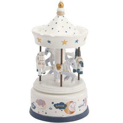 carrousel musical Lilian Amadeus les petits - CADEAUX DE NAISSANCE - DECORATION - LOU PITCHOUN LA BOUTIQUE DES KIDS - Voir en grand