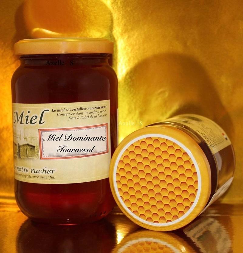 miel dominante tournesol - le plaisir du petit déjeuner - LES GATEAUX DE MAMIE ROSE - Voir en grand