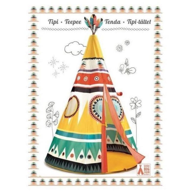 Tipi multicolore - TENTE, CABANES et TIPIS... - LOU PITCHOUN LA BOUTIQUE DES KIDS - Voir en grand