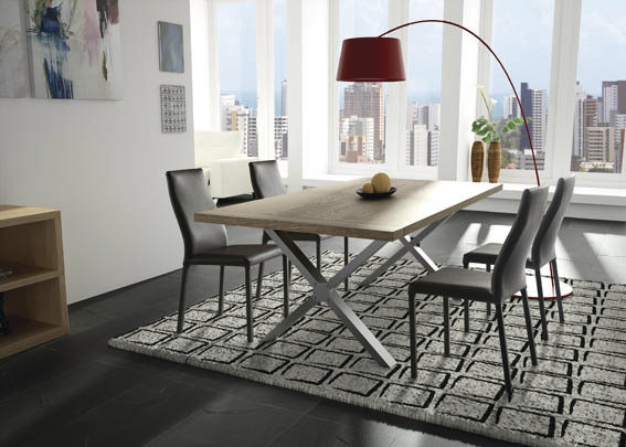 table pi tement m tal styles decoration. Black Bedroom Furniture Sets. Home Design Ideas